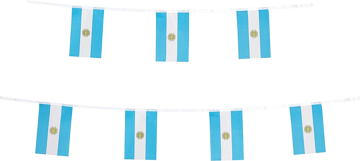 TSMD Argentina Flag, 100 Feet Argentine Flag National Country World Flags Banner,Party Decorations for Grand Opening,Olympics,Bar,World Cup,School Sports Events,International Festival Celebration