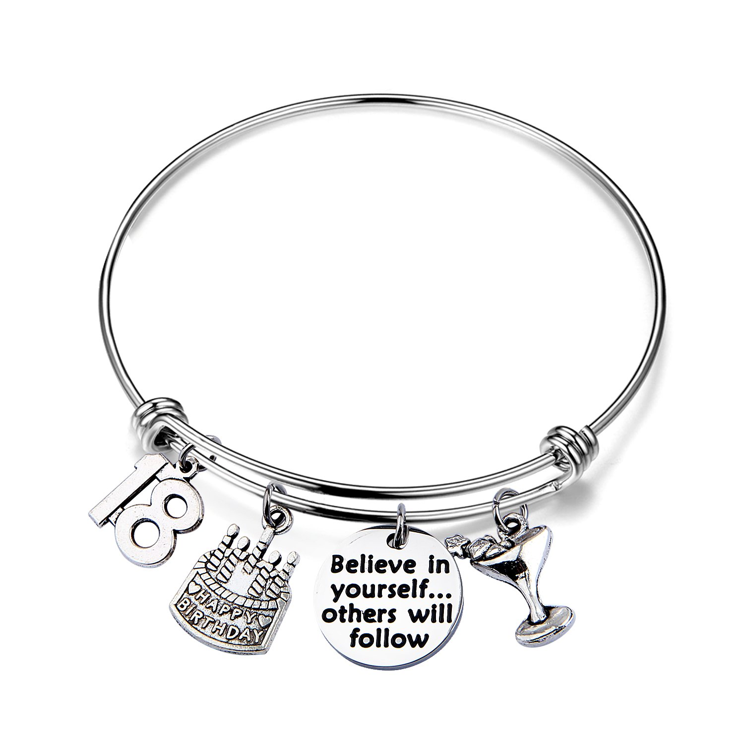 21st Birthday Bracelet 13th Sweet 16 18th Inspiration Birthday Gift Believe in Yourself Anniversary Jewelry