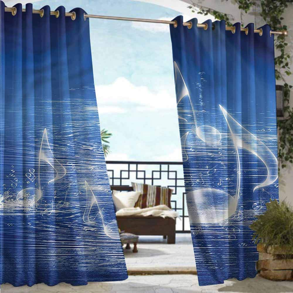 AFGG Curtains for Living Room,Music Music Hipster Skull,for Patio//Front Porch,W72x84L