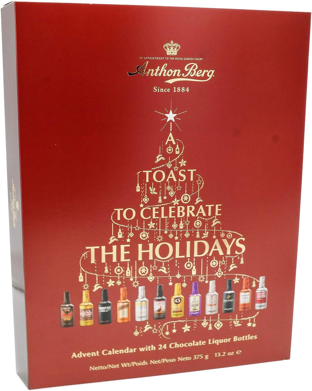 Anthon Berg Advent Calendar With 24 Chocolate Liquor Bottles