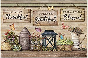 Beautiful Butterflies and Flowers Canvas Unbelievably Blessed Wall Art for Farmhouse Decor Poster Gift for Men Women, On Birthday Xmas Art Print Size 16