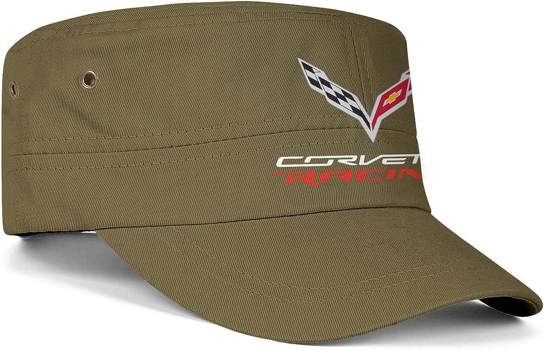 Adjustable Cadet Army Caps Snapback Hat Flat Top Cap Men Womens Military Caps C7-Corvette-Racing-Logos
