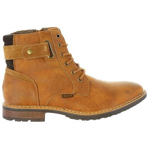Botines de Hombre REFRESH 63980 C Camel: Amazon.es: Zapatos y complementos