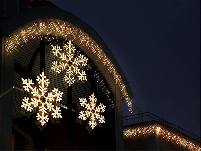 Best Season LED-Ropelight-Silhouette Schneeflocke koppelbar Durchmesser circa 75 cm 360 warm wei/ß LED outdoor 800-46