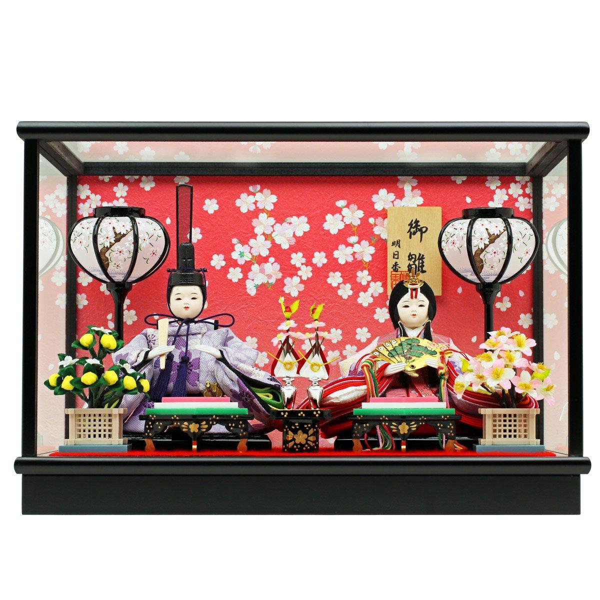 人形工房天祥 雛人形 ケース飾り 親王飾り 衣装着ひな人形 小芥子親王 二人飾り ゆめか雛   B01DDH63D4