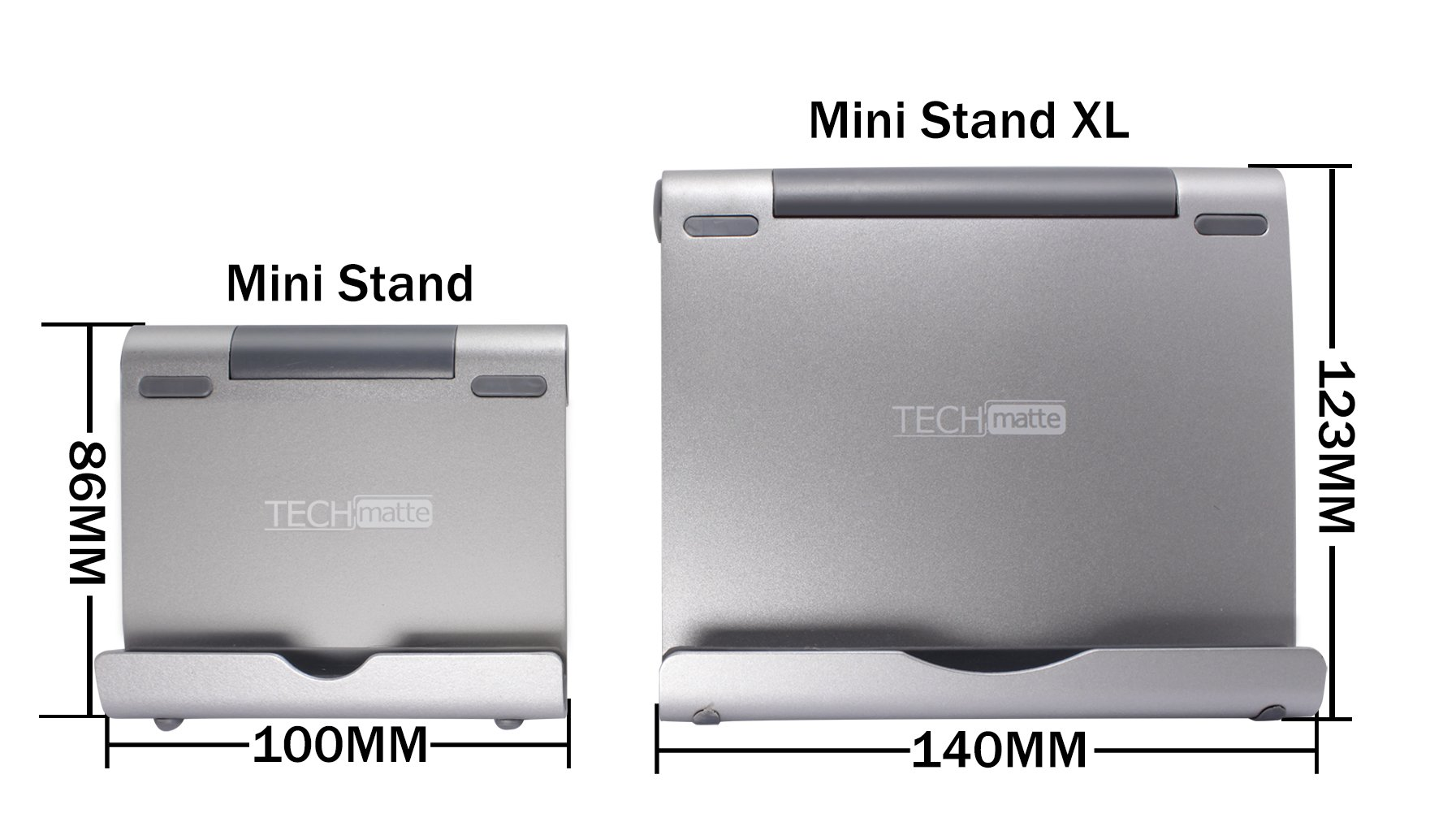 TechMatte iPad Pro Stand, Multi-Angle Aluminum Holder for iPad Pro 12.9 10.5 9.7 inch Tablets, E-readers and Smartphones,Nintendo Switch - XL-Size Stand by TechMatte (Image #7)