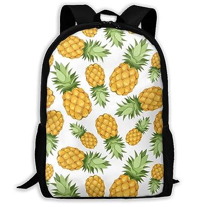 TAOHJS106 Pineapples Pattern Waterproof Adult Backpack Shoulder Bag for  Women and Men Premium Durable Rucksack Bookbag c34533034c