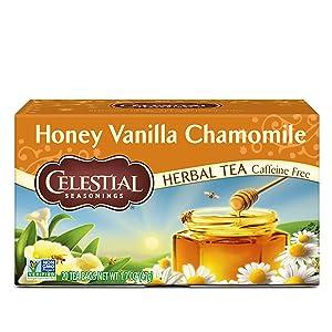 Celestial Seasonings Herbal Tea, Honey Vanilla Chamomile, 20 Count (Pack of 6)