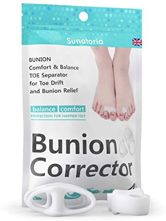 2019 Bunion Corrector by Sunatoria – Hammer Toe Straightener for Right and Left Feet by Sunatoria – Soft Gel Separators for Hallux Valgus Pain Relief – Bunion Pad Toe Protectors – Fast Orthopedic Aid