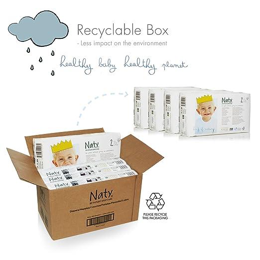 Nature Babycare - Caja pañales,Tamaño 2 Mini 3-6 kg - Paquete de 4 x 34 pañales: Amazon.es: Salud y cuidado personal