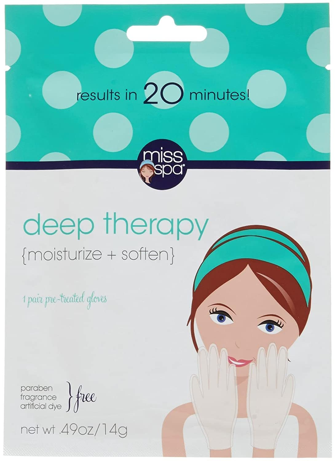 Miss Spa Deep Therapy Pre-Treated Gloves, 0.49 Ounce