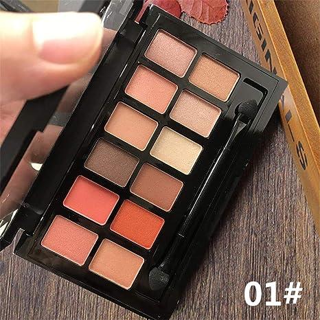 Novo 12 Colores Paletas de Sombras de Ojos Mate y Brillante ...