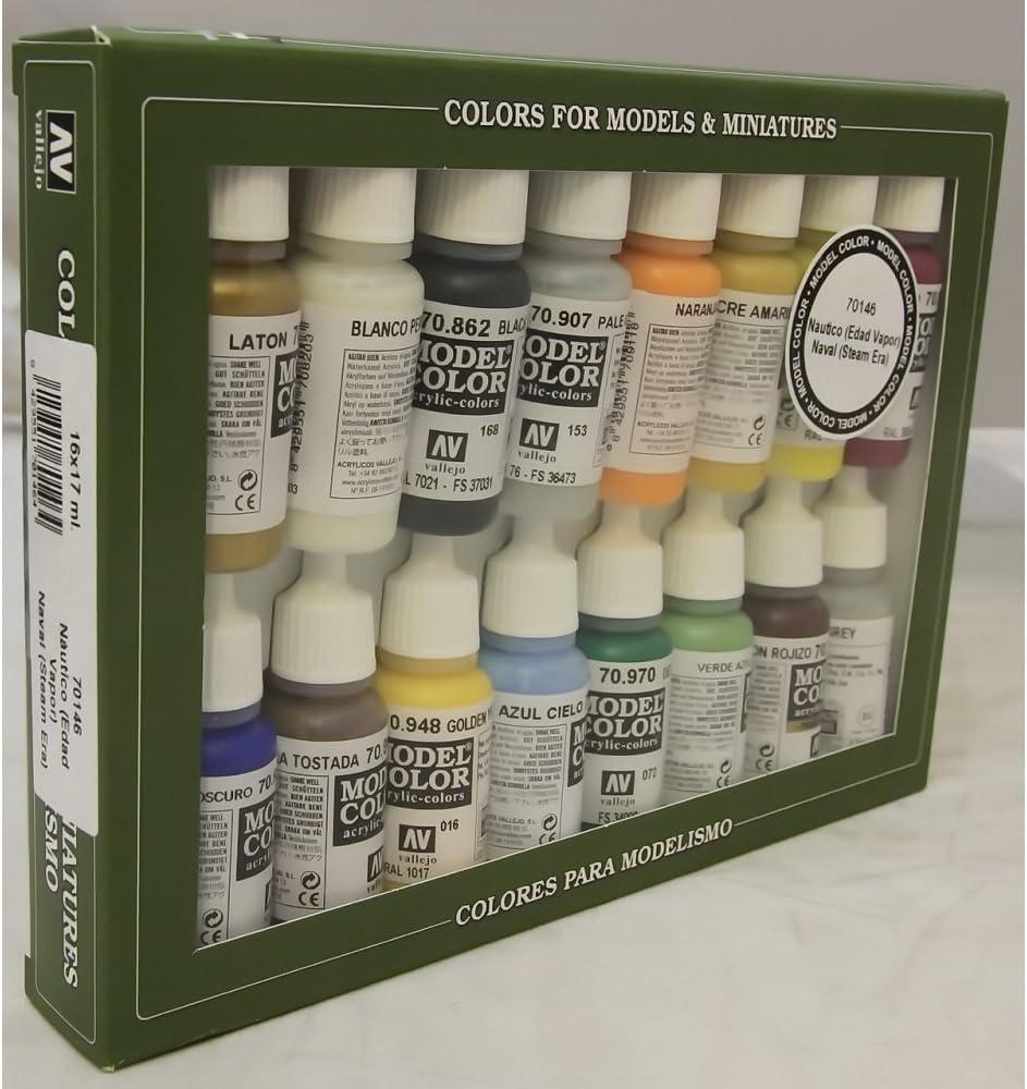 VALLEJO-3070146 70146 VALLEJO Model Color Set 16 CO, Multicolor (3070146)