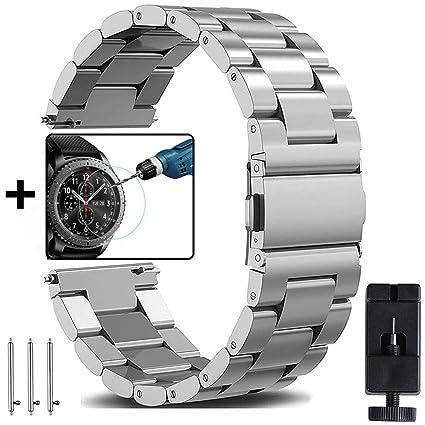 Ersatz Uhren Armband für Samsung Gear S3 Frontier Classic Edelstahl Smartwatch