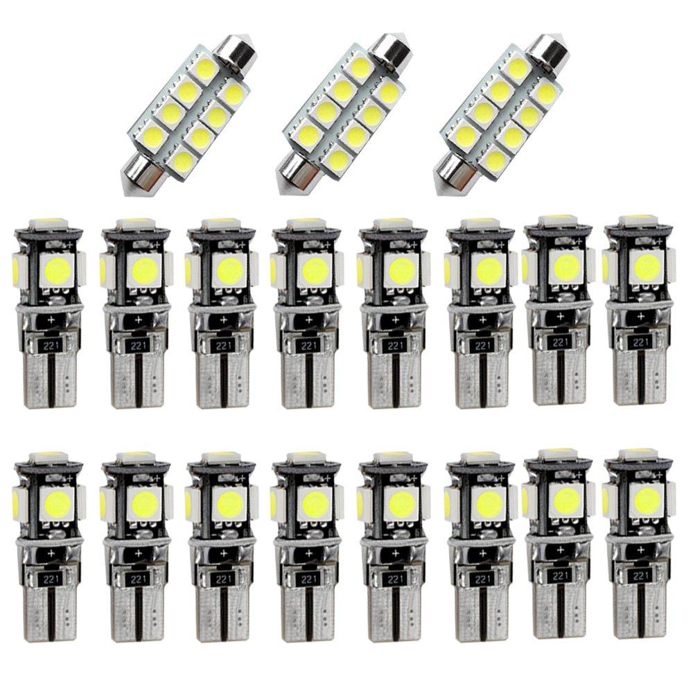 Muchkey LED Auto Lampadina Canbus Sensa Errore LED luci dell'automobile Bulb per X1 E84 LED Per la Luce Interna Dell'auto bianco 12 pezzi MyHuang