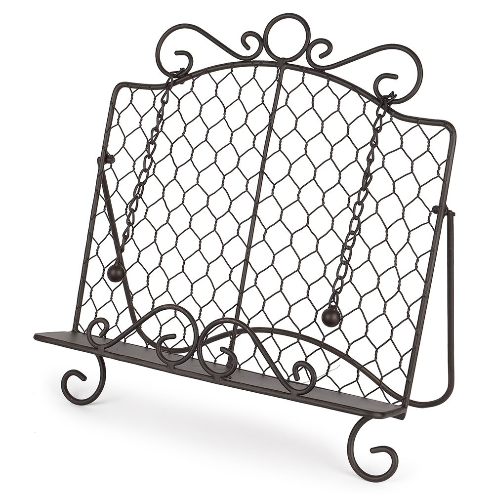 Epic Products Chicken Wire Cookbook Stand, Multicolor 11-043