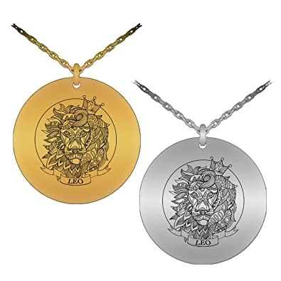 Symbolic elegant zodiac leo symbol laser engraved pendant necklace symbolic elegant zodiac leo symbol laser engraved pendant necklace stainless steel version aloadofball Image collections