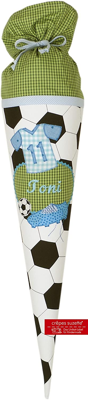 Schultüte mit Deinem Namen und Fussball, Fußballschultüte mit Namen Motiv Toni