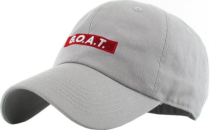 84f0466fc3c Amazon.com  KBSV-095 LGY Goat Dad Hat Baseball Cap Polo Style ...
