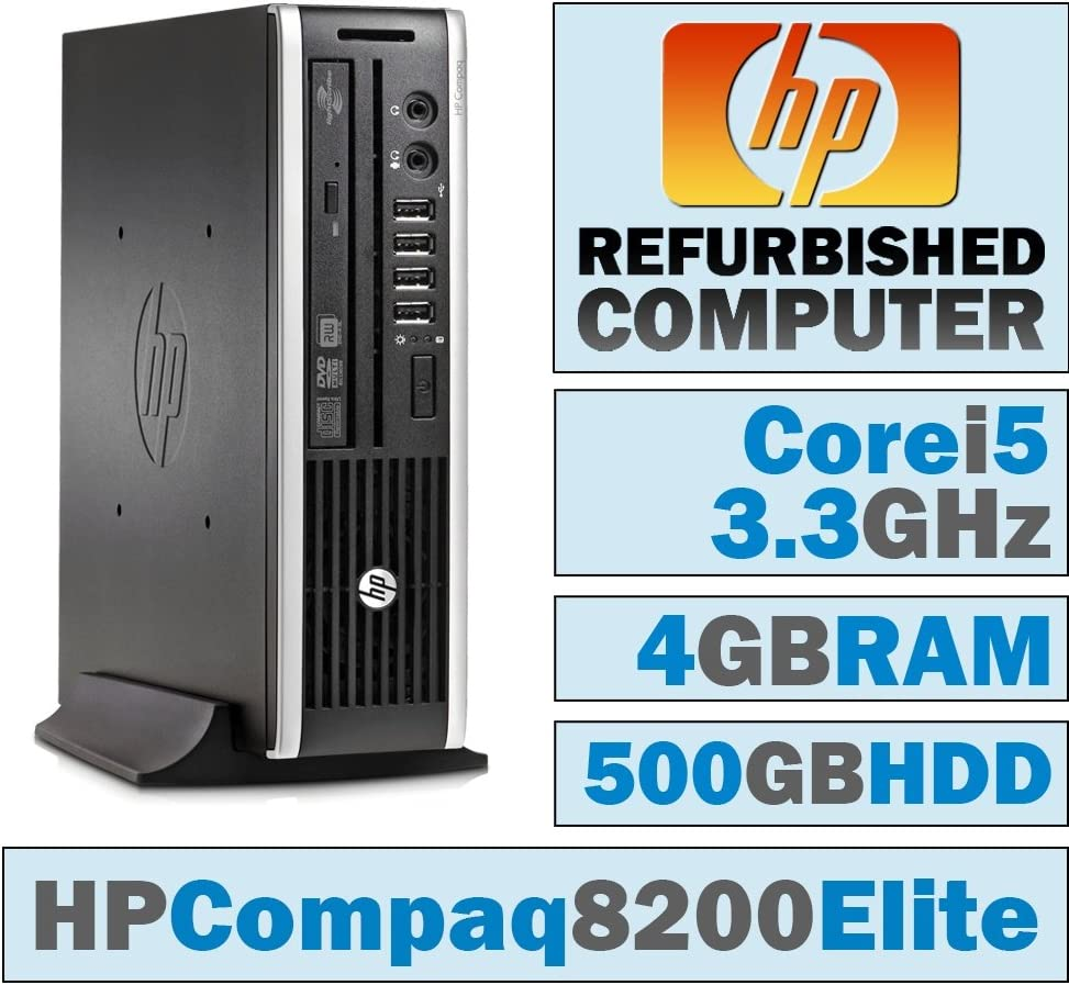 HP Compaq 8200 Elite USDT/Core i5-2500 @ 3.3 GHz/4GB DDR3/500GB HDD/DVD-RW/Windows 10 Home 64 BIT
