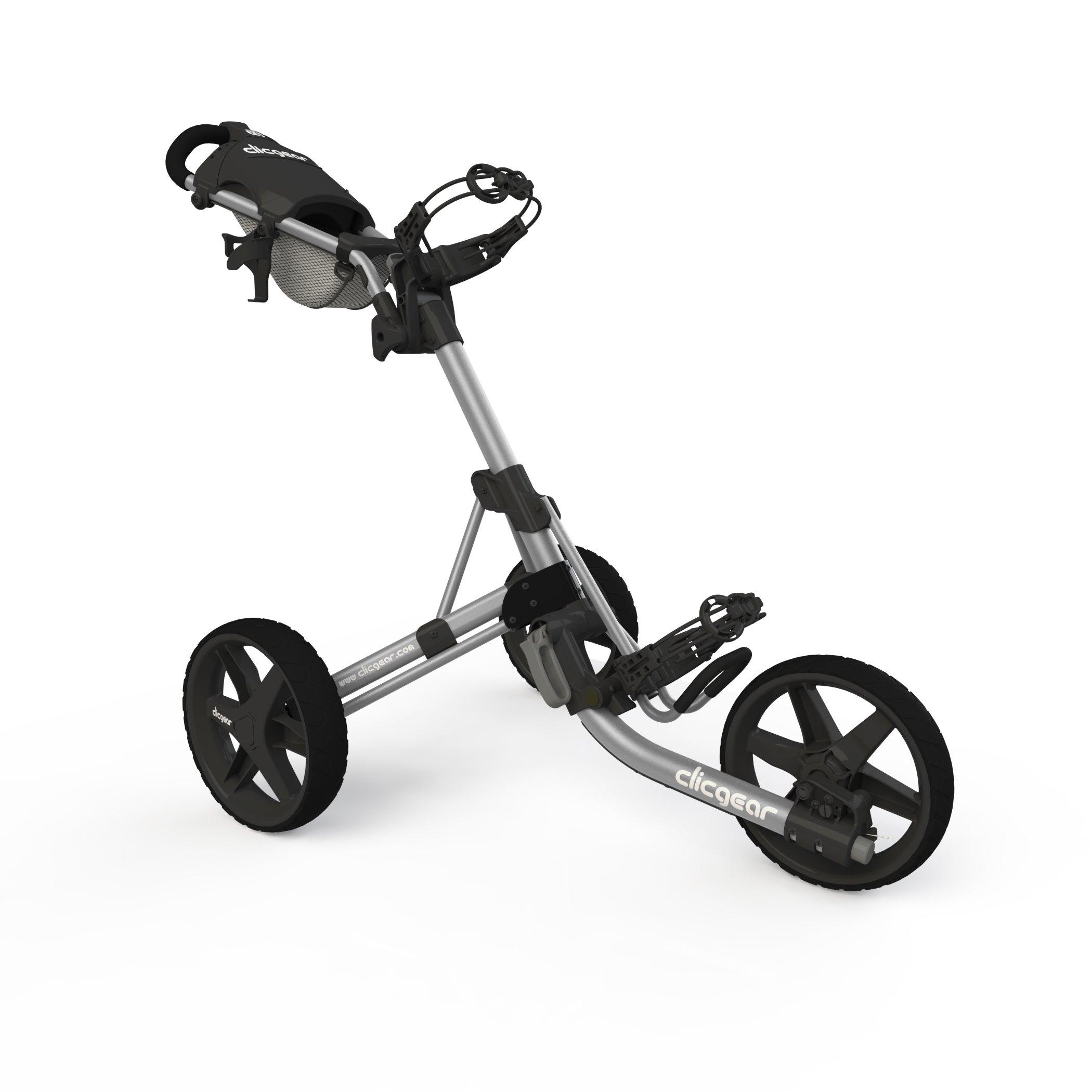 Clicgear Model 3.5+ | 3-Wheel Golf Push Cart  (Silver/Black) by Clicgear