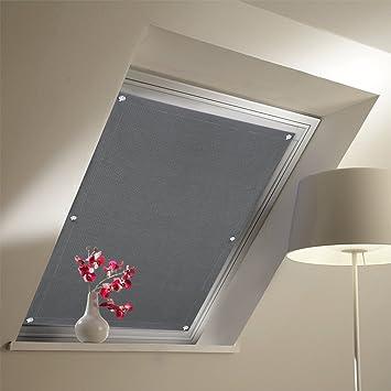 Amazonde Kinlo Dachfensterrollo 48 X 93cm Dunkelgrau Thermo