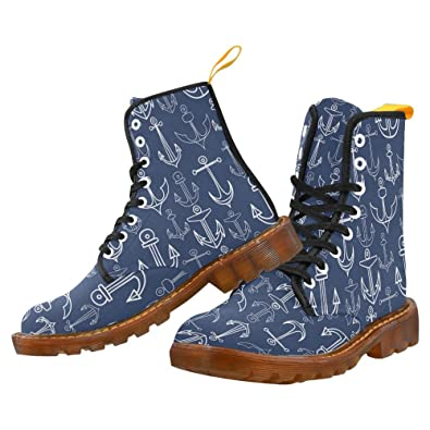 Shoes Flames Lace Up Martin Boots For Men