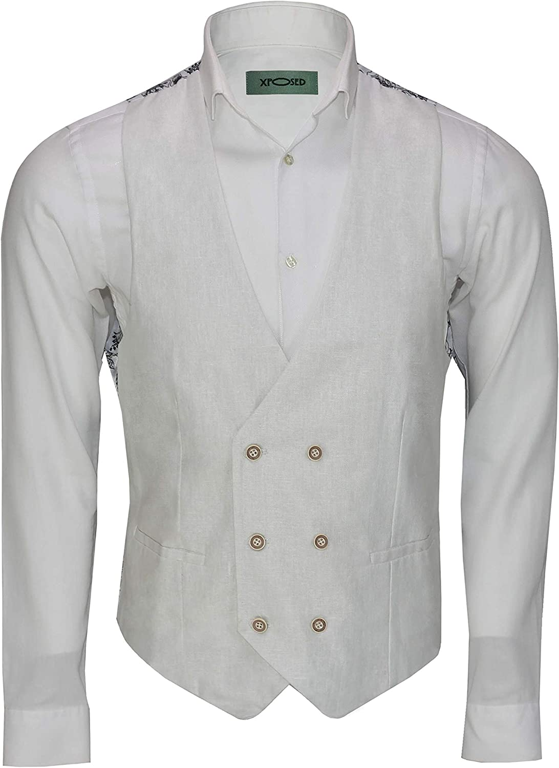 New Vintage Tuxedos, Tailcoats, Morning Suits, Dinner Jackets Xposed Mens Linen Blazer Cotton Blend Retro Vintage Smart Casual Jacket Waistcoat £29.99 AT vintagedancer.com