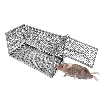 10750 Jaula trampa metálica para ratones con cierre de resorte ...