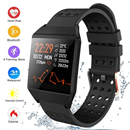 Amazon.com: Bluetooth Smart Watch Fitness Tracker, Activity ...