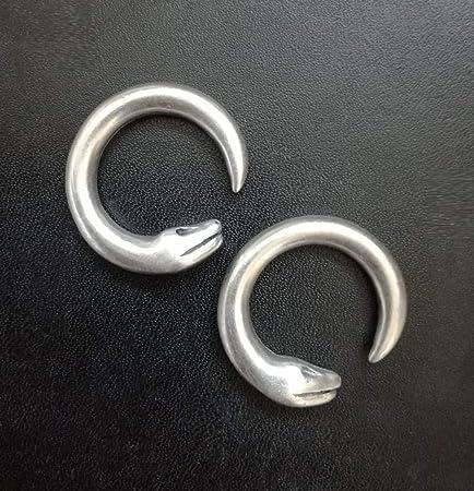 Pesos de oreja de pareja plateados plata para lóbulos ...