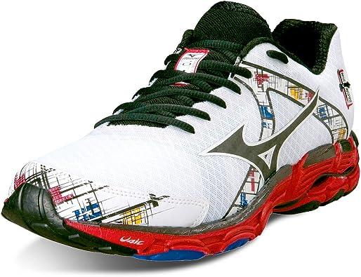 MIZUNO Wave Inspire 10 Zapatilla de Running Caballero, Blanco/Negro/Rojo, 40: Amazon.es: Zapatos y complementos
