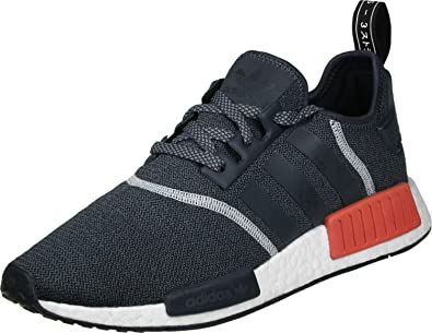 factory authentic 530d1 ea648 adidas Mens NMD_R1 Anthracite/White-Black Nylon