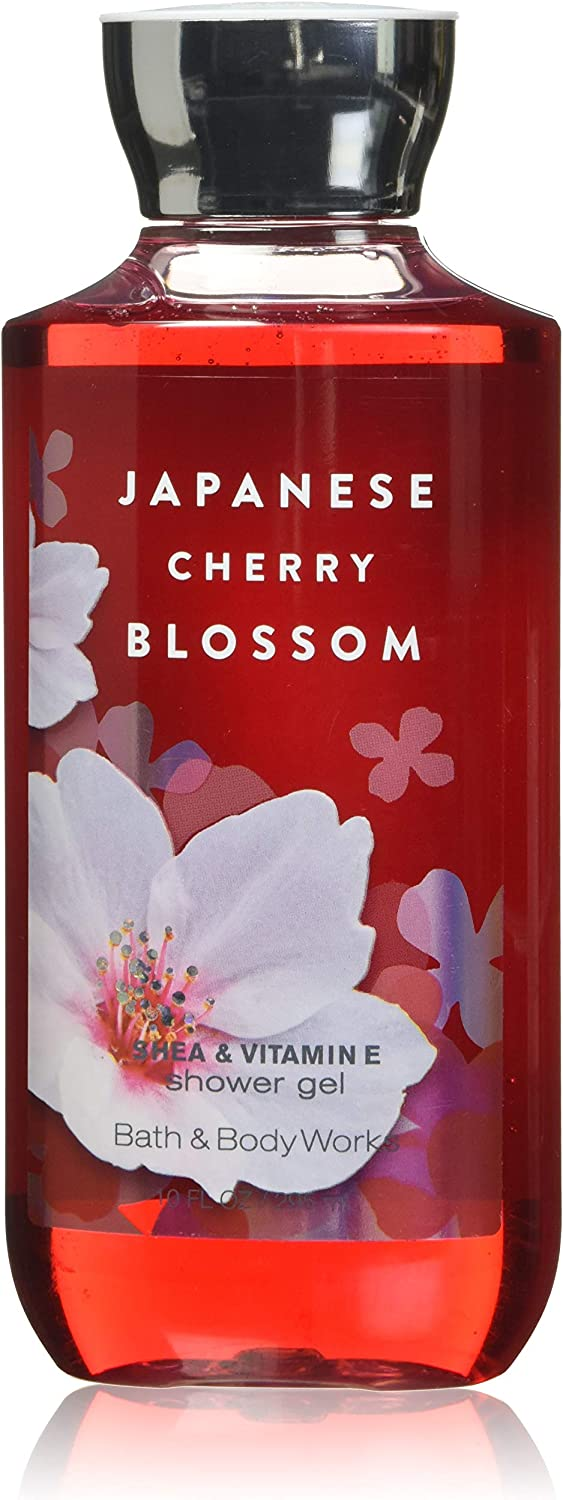 Bath and Body Works Shea Enriched Shower Gel New Improved Formula 10 Oz. (Japanese Cherry Blossom) by Bath & Body Works