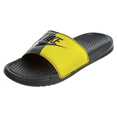 best sneakers a75f8 a6b59 Nike Benassi JDI Sneakers Basses Homme, Multicolore Black-Bright  Citron-Sequoia 001,