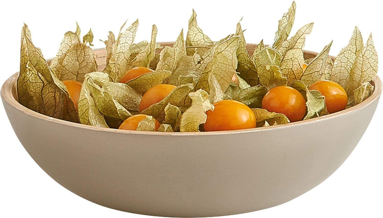 Taupe Bamboo ZELLER-PRESENT Salad Bowl