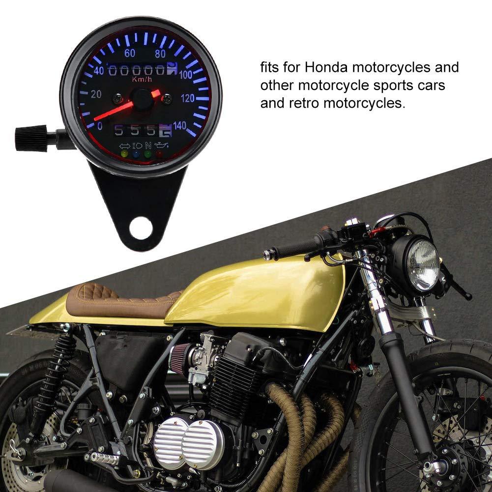 Contachilometri retroilluminazione a LED 12 V motociclo doppio tachimetro contachilometri Gauge Kit Cafe Racer