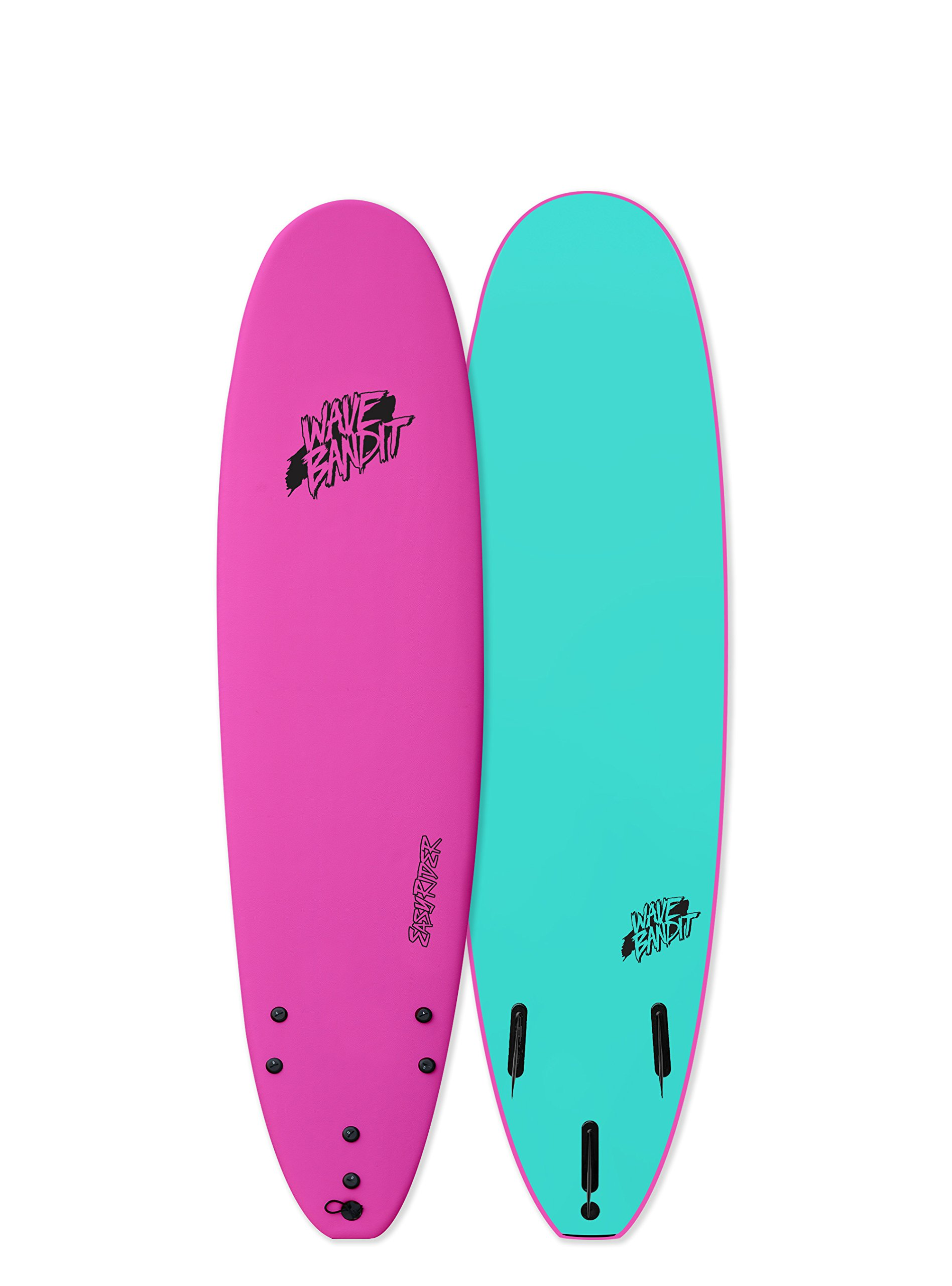 Catch Surf Wave Bandit EZ Rider 7'0'' Short Surf Board, Neon Pink