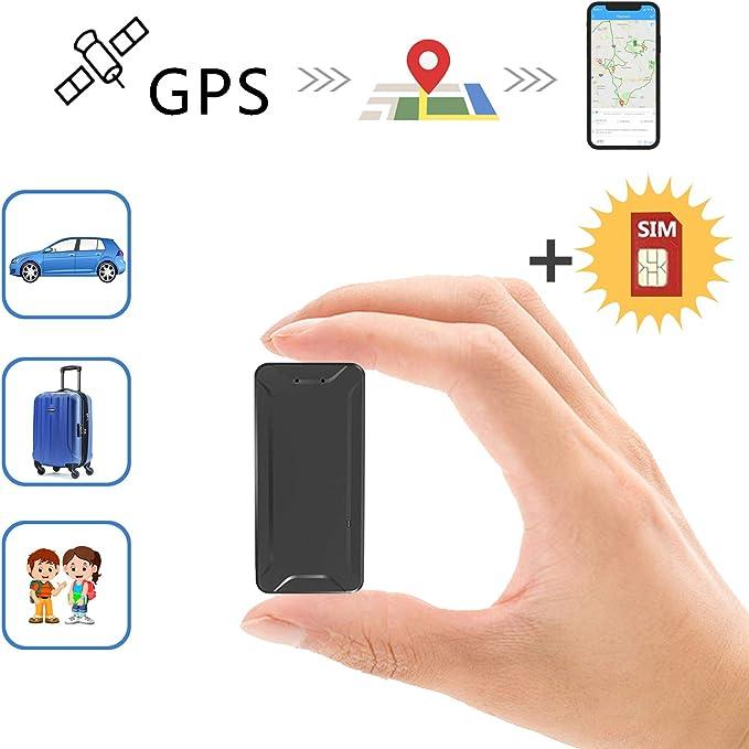 Mini Localizadores GPS, Jimi Real Antirrobo GPS Localizadores para Vehículos/niños con Seguimiento de Actividad Fuerte Imán Recargable GPS Tracker con Aplicación Gratuita para Android iOS AT2: Amazon.es: Electrónica