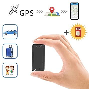 Mini Localizador GPS, Toptellite Real Antirrobo GPS Localizador para Vehículos/niños con Seguimiento de Actividad Fuerte Imán Recargable GPS Tracker ...