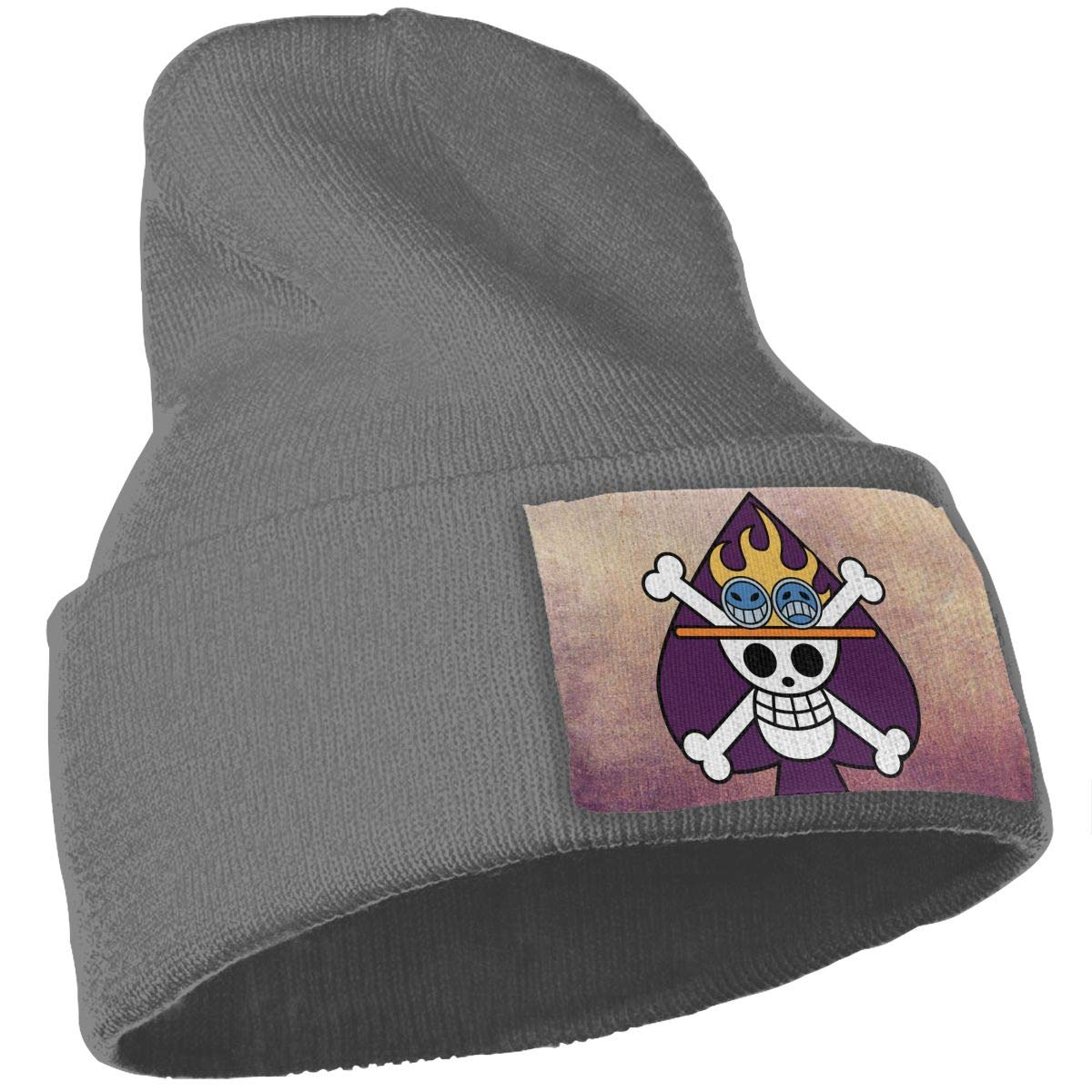 JimHappy Portgas Monkey Luffy Hat for Men and Women Winter Warm Hats Knit Slouchy Thick Skull Cap