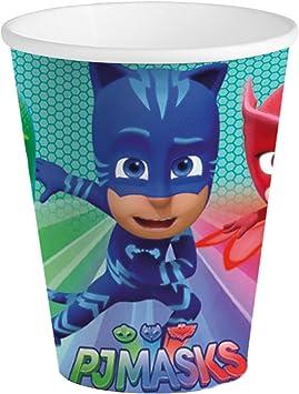 Generique - 8 Vasos de cartón Azul PJ Masks 25 cl: Amazon.es ...