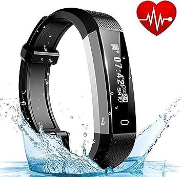 Pulsera Actividad, ASITA Pulsera Inteligente Impermeable IP67 con Monitor de Ritmo Cardíaco Actividad Podómetro Calorías