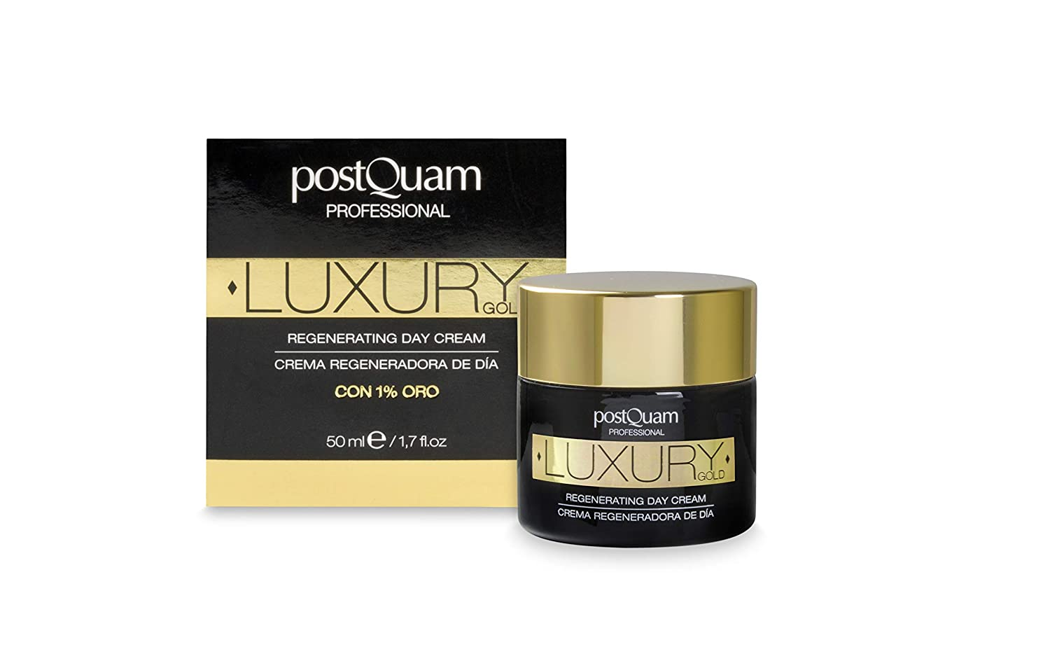 Postquam - Crema Día Luxury Gold | Crema Hidratante con Acido Hialuronico y Oro Coloidal - 50 ML: Amazon.es: Belleza