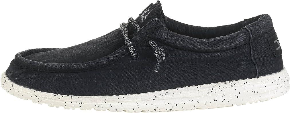 Dude Shoes Wally Masculine Lav/é Noir
