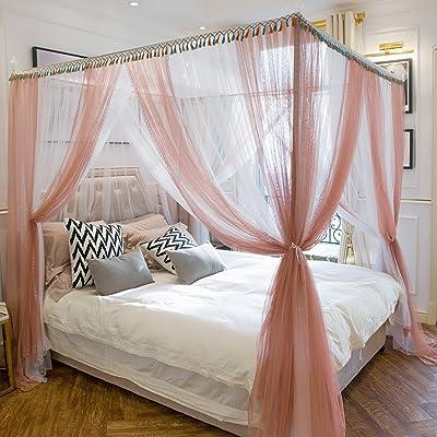 ZAYWZ XRXY Moustiquaire créative de crêpage de couleur de coutume/augmentation pratique moustiquaire de lit double carré/manteau de lit de dentelle de plancher-debout (taille : 2.0M)