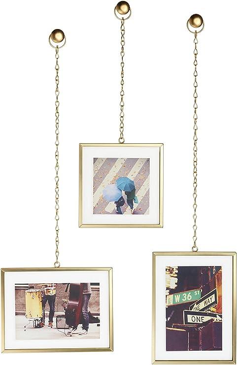 Umbra Fotochain Marco de fotos , acier doré, juego de 3 unidades ...
