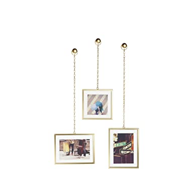 Umbra 311335-221 Fotochain, Multi Picture Frames for The Wall, Brass, Matte