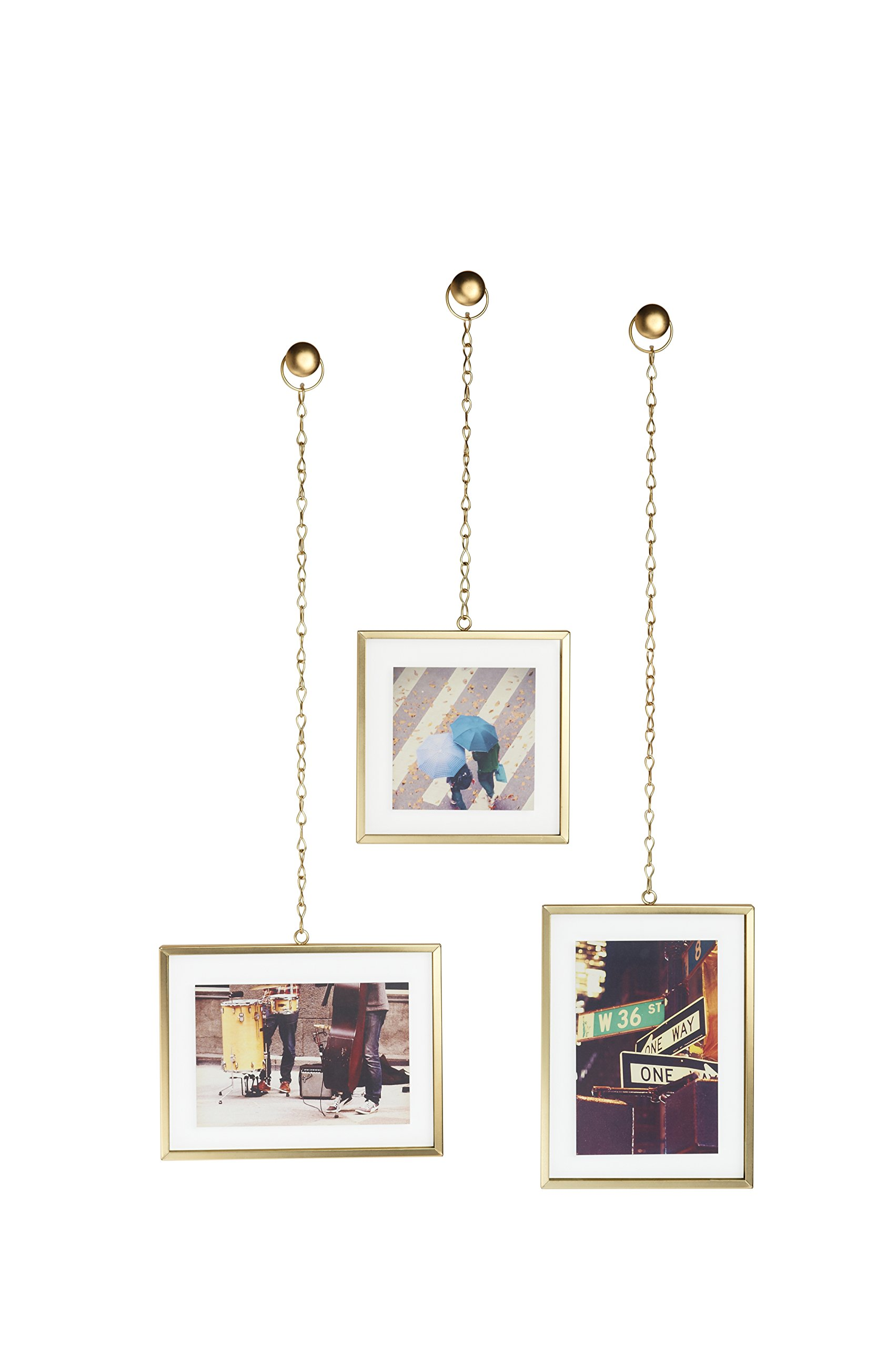 Umbra Fotochain, Multi Picture Frames for the Wall, Brass by Umbra