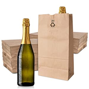 Stock Your Home 20 Lb Kraft Brown Paper Bags (100 Count) - Kraft Brown Paper Grocery Bags Bulk - Large Paper Grocery Bags for Shopping - Versatile Large Brown Bags